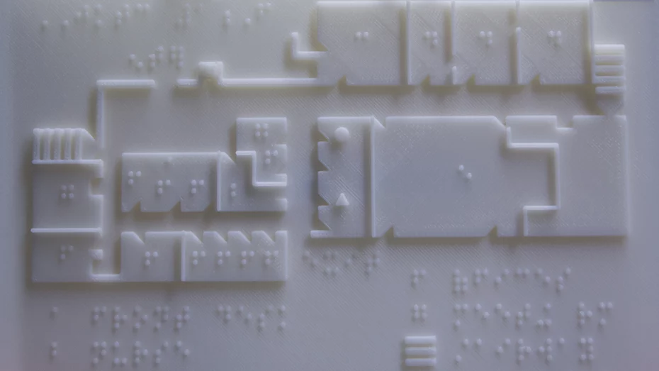 Rutgers university are 3d printing tactile braille maps to aid visually impaired people