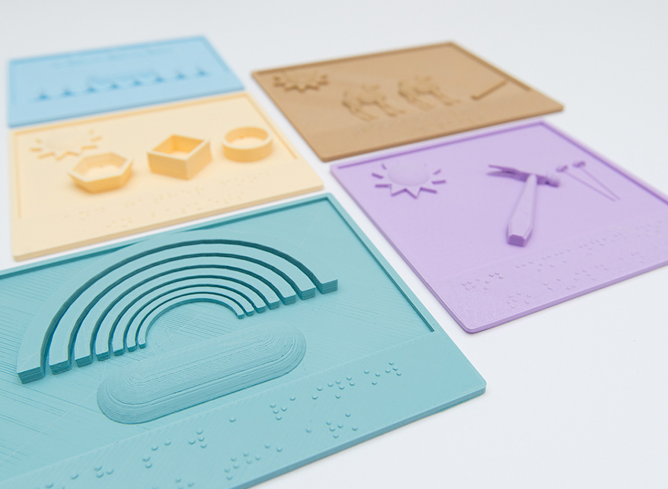 the tactile books project 3d print tactile story books for visually impaired children