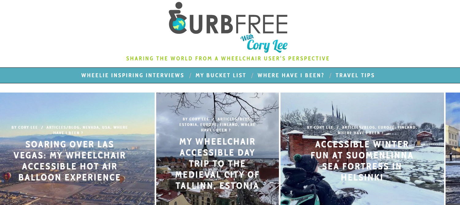 accessible travel blogs: curb free with cory lee