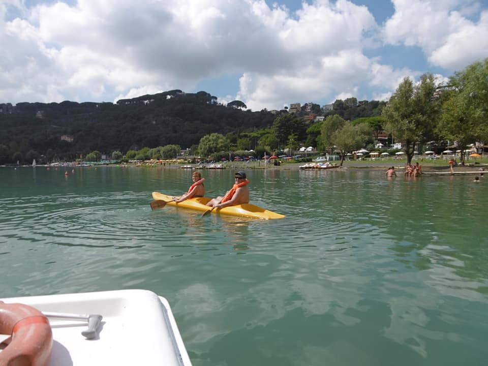 Kayaking on Lake Albano